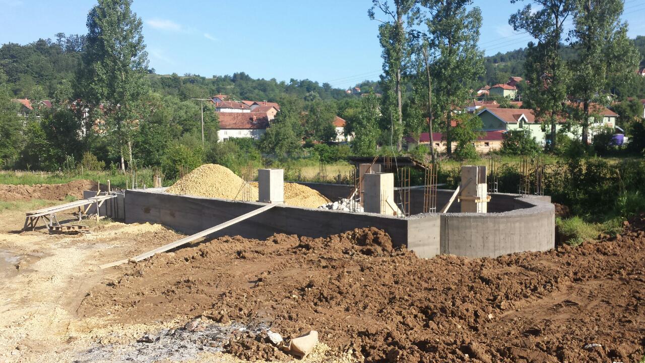 Изградња цркве - јун 2014.године