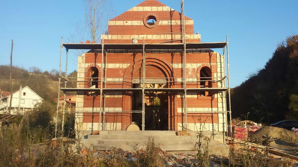 Изградња цркве - новембар 2014.године
