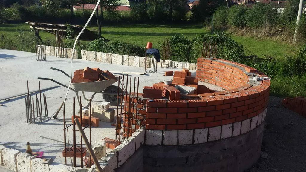Изградња цркве - септембар 2014.године