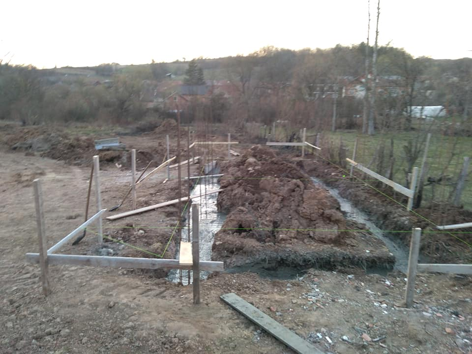 Изградња цркве - март 2019. године